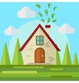 Money go to home flat style vector image