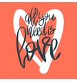 Romantic decorative poster with lettering vector image