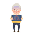 Senior Man Having Lung Problem vector image