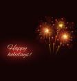 sparkling fireworks copy space vector image
