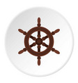 wooden ship wheel icon circle vector image