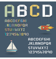 Origami Alphabet with Numbers vector image vector image