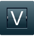 Letter V from mechanical scoreboard vector image