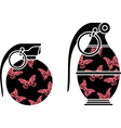 stencils of glamour grenades vector image vector image