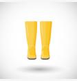 rain boots pair flat icon vector image