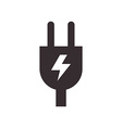 Plug and high voltage sign vector image