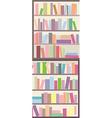 Book shelves seamless banner vector image
