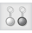 Two key chain pendants mockup vector image