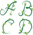 summer alphabet vector image vector image