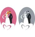 wedding couple 01 vector image