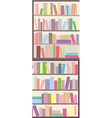 Book shelves seamless banner vector image