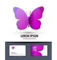 butterfly Logo sign icon emblem template business vector image