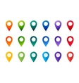 Set of colorful Map Markers Collection flat and vector image