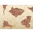 set old shabby concrete and brick cracks vector image