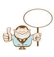 smiling businessman vector image