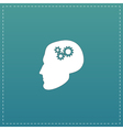 Human head gear hybrid knowledge vector image