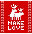 Pixel art style retro game two deers making love vector image