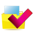 Download file correct vector image vector image