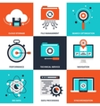 Data Management vector image