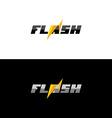 Flash lightning logo vector image