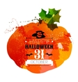 Halloween watercolor effect vector image vector image