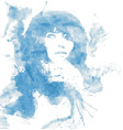 ink girl vector image vector image