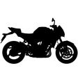 motorbike silhouette vector image