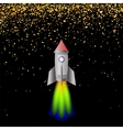 Space Rocket Launching Spacectaft vector image