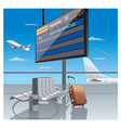 airport departure vector image