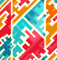 bright funky seamless pattern vector image