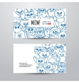 Cats card template vector image
