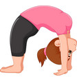 cute woman cartoon exercing yoga sport vector image