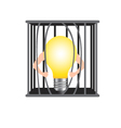 Damage the cage for freedom idea vector image