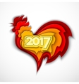 Happy New Year 2017 of the red rooster vector image