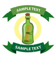 message in a bottle on the pirate theme with vector image