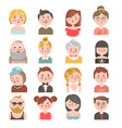 People avatars of all ages colorful collection on vector image
