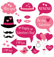 photo booth props for valentines day vector image