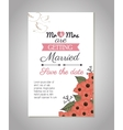 wedding invitation card icon vector image