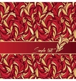 red background composition with feathers texture vector image