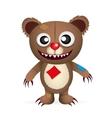 angry cartoon bear vector image