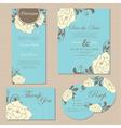 wedding set copy vector image vector image