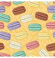 Seamless macaroons pattern vector image