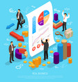 business infographic conceptual composition vector image