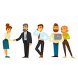 business people team while working time isolated vector image