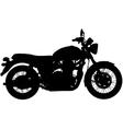 Classic motorbike silhouette vector image