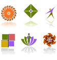 Colorful abstract design elements vector image