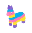 Colorful donkey icon isometric 3d style vector image
