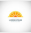 juice orange shine logo vector image