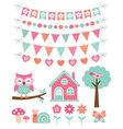summer decoration and design elements set vector image