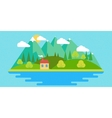 Summer landscape in flat vector image
